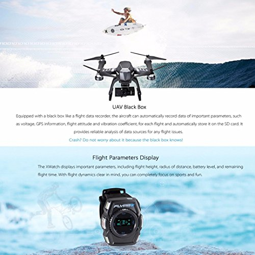 FLYPRO XEagle FPV Sports Drone 4K Ultra HD Sports Camera 1080P the Action Helicopter Airplane with Hands-Free XWatch Controls-Shoot Your Action in Epic Clarity and Detail