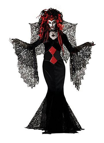 Mario Chiodo Womens Nightmare Black Widow Vampire Fancy Halloween Costume