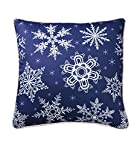 Falling Snowflake Blue 18X18 Pillow (Indoor/Outdoor)