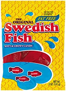 Swedish fish red fish soft chewy candy 5 for Swedish fish amazon
