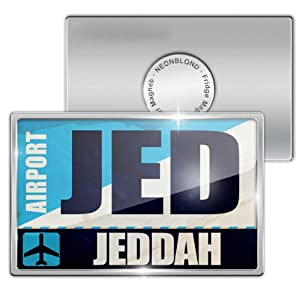 Amazon.com: Fridge Magnet Airportcode JED Jeddah - Neonblond