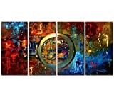 Wieco Art - Abstract Oil Paintings on Canvas Modern Canvas Art for Wall Decor and Home Decorations