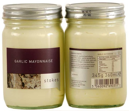 Garlic Mayonnaise - England by ChefShop.com (Gourmet,Stokes,Gourmet Food,Salsas & Condiments,Condiments,Mayonnaise)