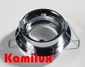 LED Halogen Decken Einbaustrahler Einbauspot RTC-55 Weiß 230Volt GU10 Fassung
