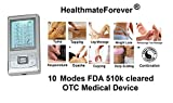FDA cleared HealthmateForever Pro-8AB upgrade 2014 version 10 modes pain relief electrotherapy device, muscular therapy device, full body TENS unit, electronic pulse massager, As Powerful As the One in the Chiropractor's Office for pain management including neck, shoulder, lower back, sports injury recovry, car accident injury recovery etc. New feature: -it has two more custom designed modes for knee arthritis, restless legs, calf muscle cramp, ankle injury recovery, tendonitis, plantar fasciitis and neuropathy diabetic foot, morton neuroma foot pain relief. (100% Quality Guarantee), Lifetime Warranty Silver color