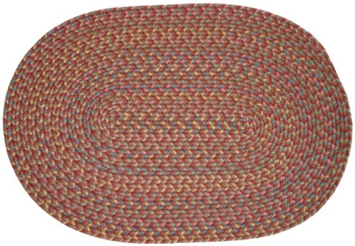 Rhody Rug Bloomfield Braided Rug, 2 by 3-Feet, Terracotta