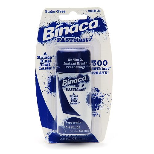 Binaca Fastblast Breath Spray Peppermint-0.5 fl. oz. (6 Pack) (Mouth Spray compare prices)