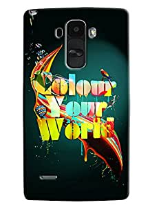 Omnam Color Your World Printed Designer Back Cover Case For LG G4 Stylus