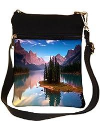 Snoogg Treea And Lake Cross Body Tote Bag / Shoulder Sling Carry Bag