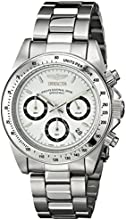 Invicta Speedway Unisex Quartz Watch with White Dial  Chronograph display on Silver Stainless Steel Bracelet 9211