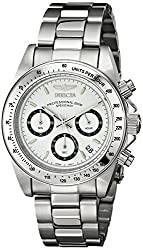 Invicta Speedway Analog White Dial Mens Watch - 9211