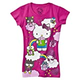 Girls' Hello Kitty Pink 50th Anniversary Glitter Tee S