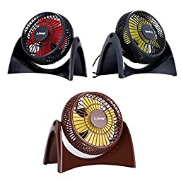 Bangcool Creative Mute USB Powered Portable 360 Degree Pivoting Mini Fan(Brown)