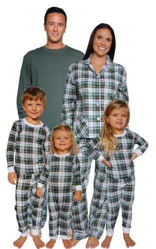 Sleepytimepjs Christmas Family Matching Pajamas (Tartan Plaid, 3T) front-960384