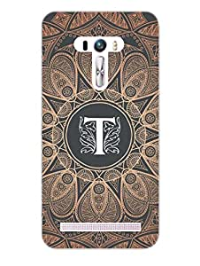 Initial T - Classy And Personalised - Hard Back Case Cover for Asus Zenfone Selfie - Superior Matte Finish - HD Printed Cases and Covers