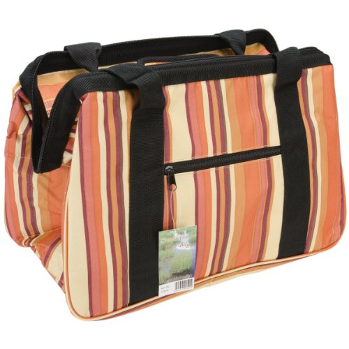 "JanetBasket Brown Stripes Eco Bag-18""X10""X12"" from WMU"