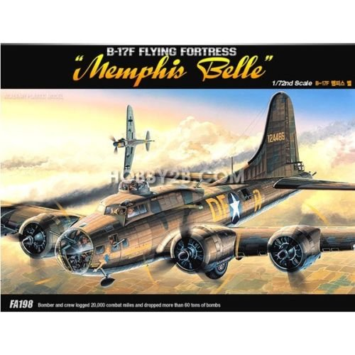 Academy 1/72 B-17F Flying Fortress Memphis Bell Aircraft Plastic Model Kit 12495