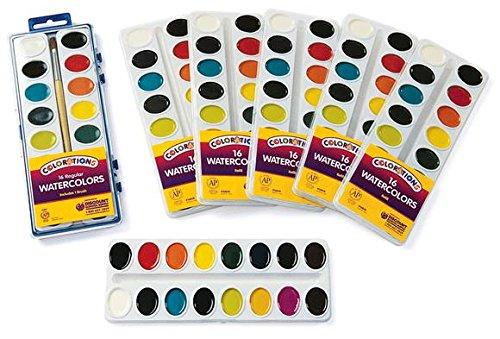 Colorations 16 Colors Best Value Regular Watercolor Paint Refills - Set of 6 (Item # RFIL16ST)