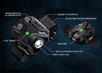SureFire High-Output LED Wrist Light, Black from SureFire