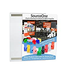 Source One Peel and Stick 8 1/2 x 14 Inch Legal Size Clear Sign Holder Document Holder Wall Mount