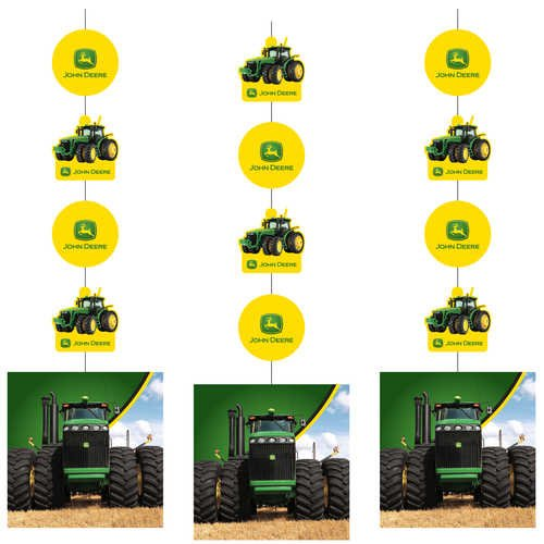 John Deere Hanging Decorations, 3 Pack