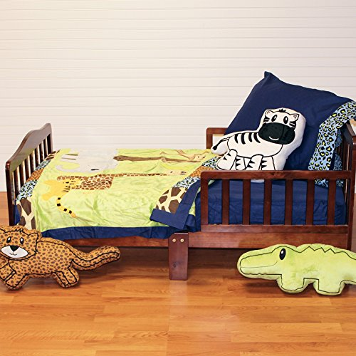 One Grace Place Jazzie Jungle Boy Toddler Set, Light Blue, Navy Blue, Chocolate Brown, Black, Lavender, Green - 1