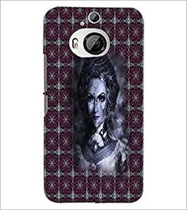 PrintDhaba Vamp D-3009 Back Case Cover for HTC ONE M9 PLUS (Multi-Coloured)