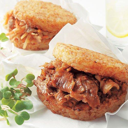 お肉屋さんのライスバーガー サンドdeごはん お取り寄せグルメ ご飯のお供 ごはんの友 きんぴら 生姜焼き 豚 豚肉 肉 惣菜 おにぎり 朝食 おかず お弁当