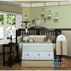 GEENNY Bumble Bee 13PCS CRIB BEDDING SET by GEENNY