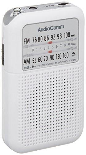 OHM AudioComm AM/FMポケットラジオ ホワイト RAD-F127N-W