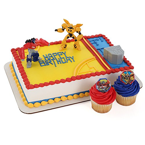 Cheapest Price! Transformers Cake Topper and 24 Cupcake Topper Rings