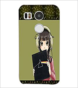 PrintDhaba Music Girl D-1333 Back Case Cover for LG NEXUS 5X (Multi-Coloured)