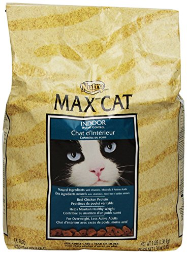 Max Cat Indoor Weight Control Food, 3-Pound