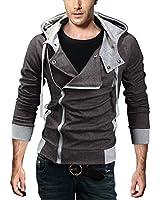 DJT Herren Slim Fit Hoodie Kapuzenpullover Sweatshirt Jacke Pullover mit Zipper Kostuem Oben Cosplay Pulli