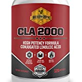 #1 Top Rated CLA 2000mg Supplement for Weight Loss - 120 CLA Fat Burning Capsules with Safflower Oil per Bottle | 100% Quality Maximum Strength Conjugated Linoleic Acid CLA | Burn Fat Without Losing Muscle 1000mg Half Serving | Plant Derived - Made in USA | 100% Money Back Guarantee! | By Mesomorph Labs