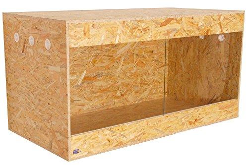Happy-Echse OSB Terrarium, Holz Terrarium, Terrarium, Seitenbelüfung, 120 x 60 x 60