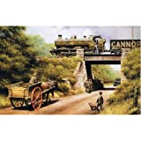 Wagons for the Colliery (greetings card)