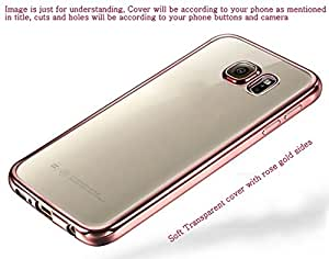 Soft Transparent back cover for Samsung Galaxy A7 Rose Gold