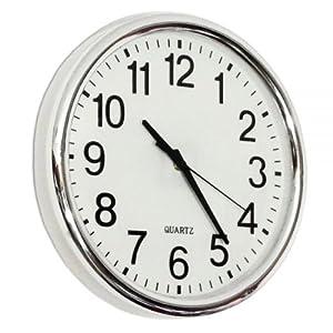 horloge murale silencieuse design cadran blanc cuisine maison. Black Bedroom Furniture Sets. Home Design Ideas