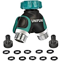 UNIFUN Zinc Alloy Body 2-Way Water Splitter