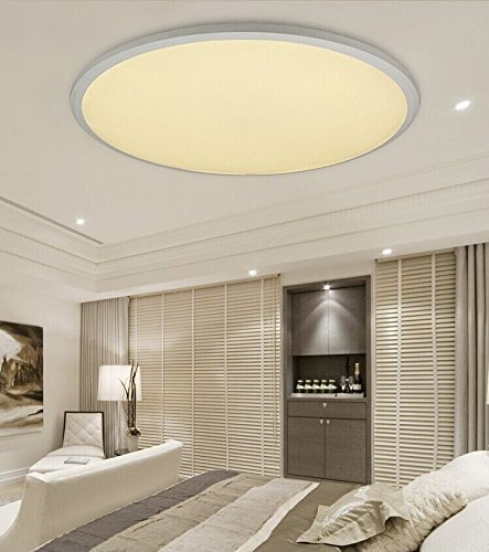 Style Ultralslim LED Bath Ceiling Light home Wall Light dimmerabile with Remote Control notte Modul x 806-24W Diameter Silver: 500 mm