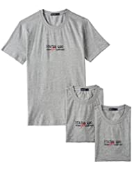 Status Quo Men's Round Neck Cotton T-shirt (Pack Of 3) (Assorted) (8907001508691)