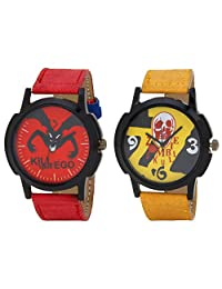 Relish Black Analog Round Casual Wear Watches For Men - B019T7LLBQ