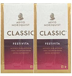 Arvid Nordquist Classic Coffee Extra Dark Roast 2 Packs 17.6oz/500g