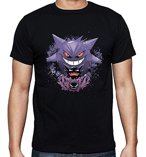 Gastly Haunter Ginger Creepy Ghost Evolution Awesome Pokemon Go Design Men Uomo Black T-shirt