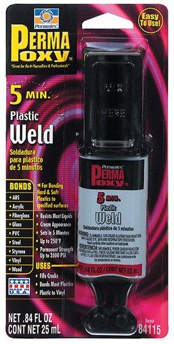 Permatex 84115 PermaPoxy 5 minute Plastic Weld, 0.84 oz.