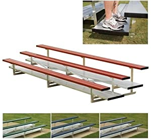 Powder Coated Double Foot Plank Bleachers by Athletic Connection