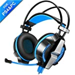 PS4 Gaming Headsets with Mic & Volume...