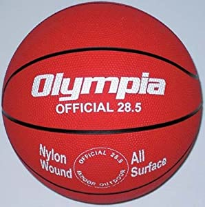 Intermediate Women Red Rubber Basketballs - Set Of 6 by Olympia Sports