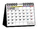2012年 シンプル卓上カレンダー(B6ヨコ・月曜始まり)